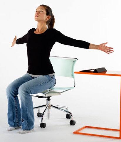 chest stretch seated chair